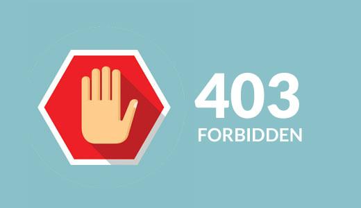 403 WordPress Yasaklanan hatayı düzeltmek