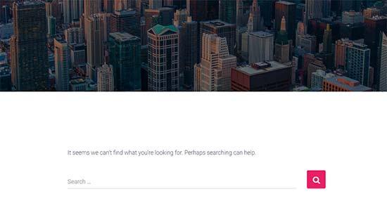 Tipik 404 hata sayfası