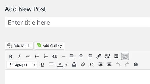 Bir yayına veya sayfaya galeri ekle