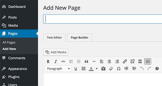 Sayfa oluşturucu ile yeni sayfa ekle