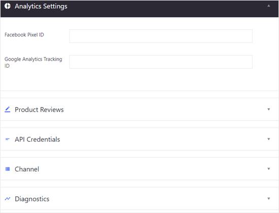 WordPress Analytics ve Diğer Ayarlar için BIgCommerce