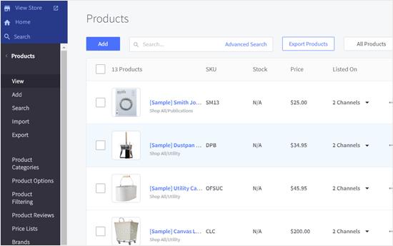 BigCommerce Ürünleri Sayfası