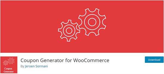 WooCommerce için kupon üreteci