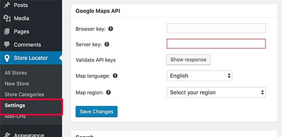 Google Haritalar Anahtarlarını Girin
