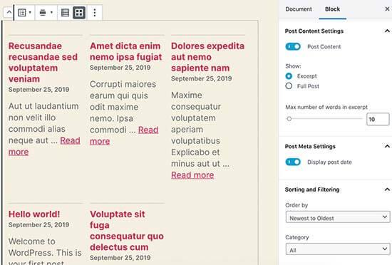 WordPress 5.3'te Son Gönderilenler