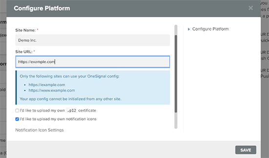 Push bildirimi için Safari ayarları