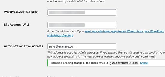 Site yöneticisi e-posta adresini doğrula