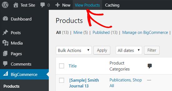 WordPress'teki BigCommerce Ürünlerini Görüntüleyin