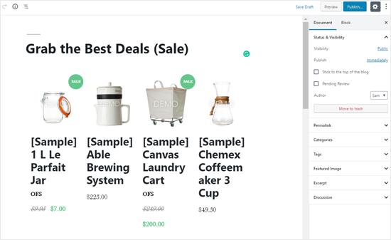 WordPress Post'ta Büyük Ticaret Ürünleri Listesi