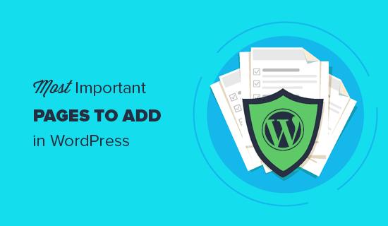 Her WordPress sitesinin sahip olması gereken önemli sayfalar