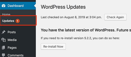 WordPress sitenizi güncel tutun
