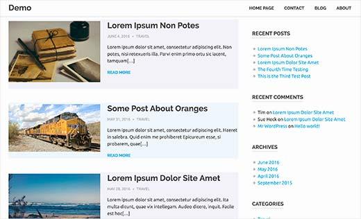 WordPress'te çift / tek css sınıflarıyla alternatif arka plan renkleri kullanan yayınlar