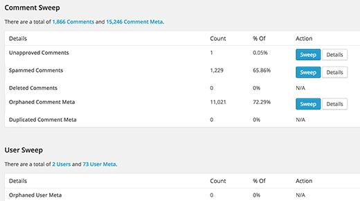Yorum meta ve kullanıcı meta verilerinin temizlenmesi