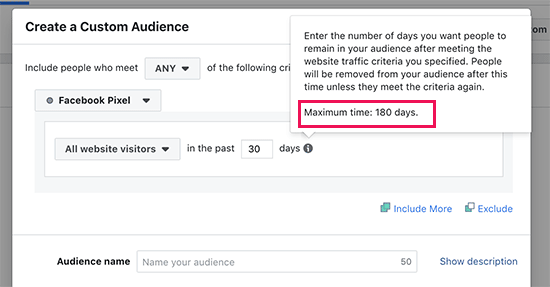 Facebook özel kitlesi yeniden hedefleme