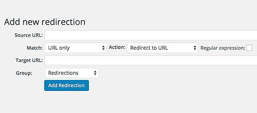 Yeniden Yönlendirme eklentisiyle WordPress'e yeni bir yönlendirme ekleme