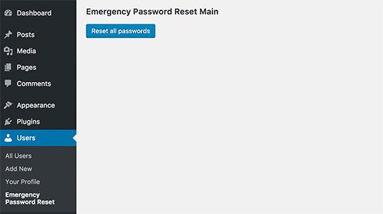 Tüm şifreleri sıfırla