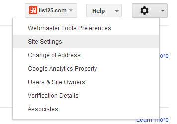 Google Web Yöneticisi Araçları Ayarları