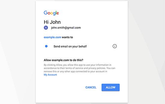 WP Mail SMTP'nin e-posta göndermesine izin ver