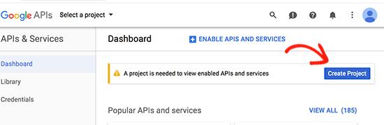 Google Geliştirici Konsolu projesi oluştur