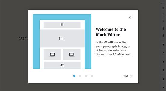 WordPress 5.4'te hoş geldiniz modu