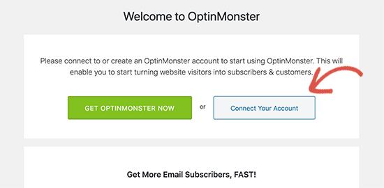 OptinMonster'ı bağlayın