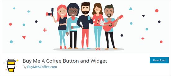 WordPress web sitesinde Bana Bir Kahve Satın al kavanoz eklentisi