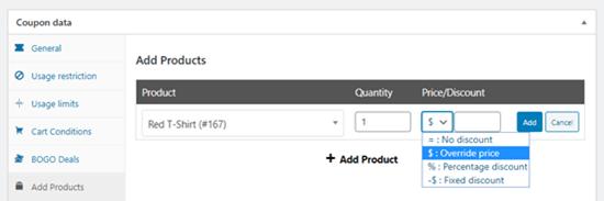 'Fiyat / İndirim' açılır menüsünü kullanarak ürününüzü ücretsiz yapma