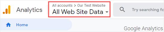Google Analytics'te doğru web sitesinin seçili olup olmadığını kontrol edin