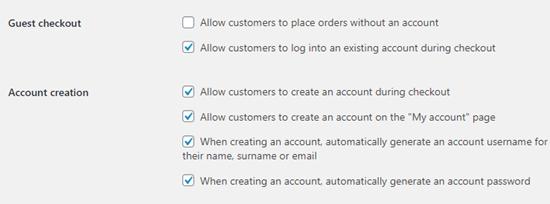 WooCommerce'de misafir olarak ödeme yapma seçeneğine izin verme