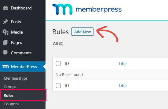 Yeni bir kural oluşturma