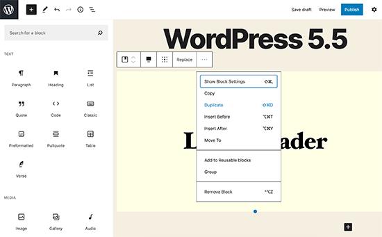 WordPress 5.5'te Editör UI değişikliklerini engelleyin
