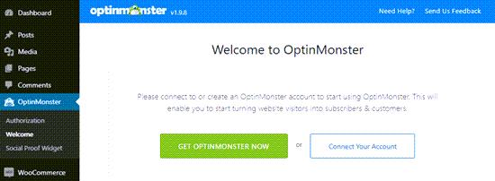 OptinMonster'ı WordPress sitenize bağlayın