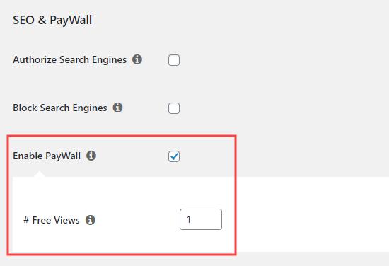 MemberPress'te ödeme duvarı özelliğini etkinleştirme
