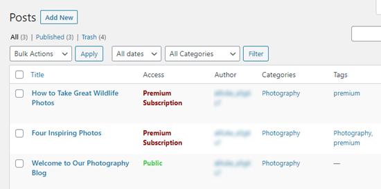 Erişim düzeyleri listelenmiş yayınlar
