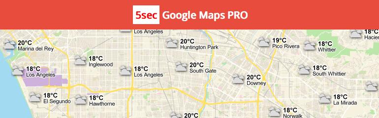 En İyi Haritalama Eklentileri: 5sec Google Maps PRO