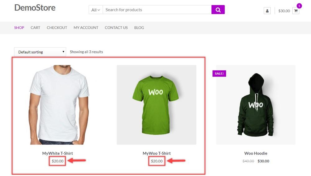 ELEX WooCommerce Toplu Fiyatları Uygulandı