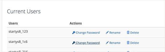 Veritabanı kullanıcı şifresini değiştirme
