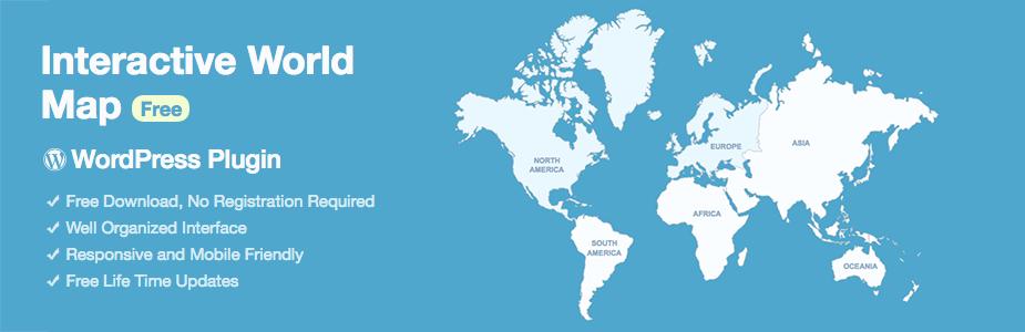 İnteraktif Dünya Haritası Ücretsiz WordPress Eklentisi