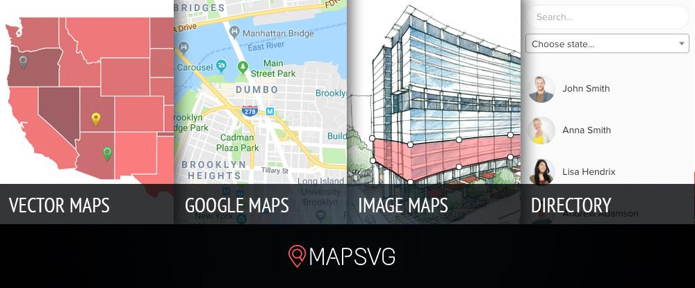 En İyi Haritalama Eklentileri: MapSVG