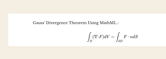 MathML önizlemesi