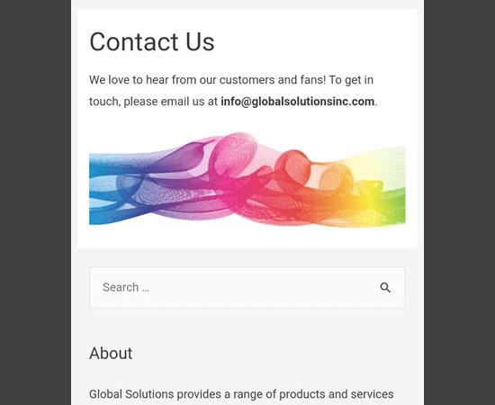 Mobil cihazdaki içeriğin altında görüntülenen arama widget'ı