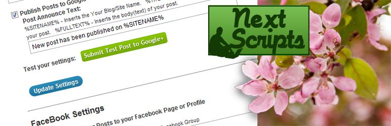 NextScripts: Sosyal Ağlar Otomatik Posteri