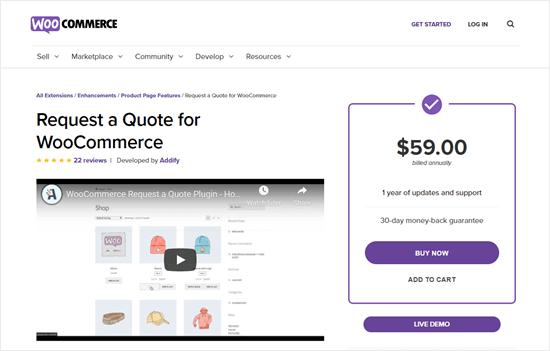 WooCommerce için Teklif İsteyin