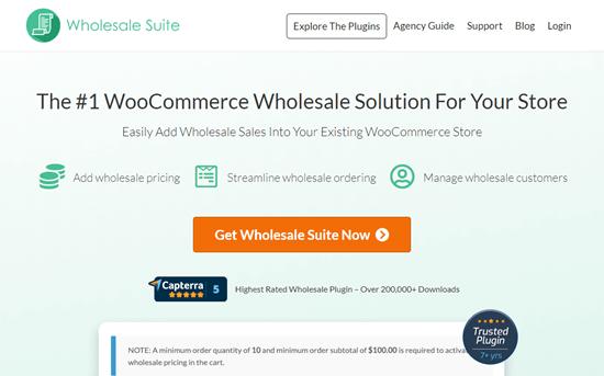Wholesale Suite web sitesi