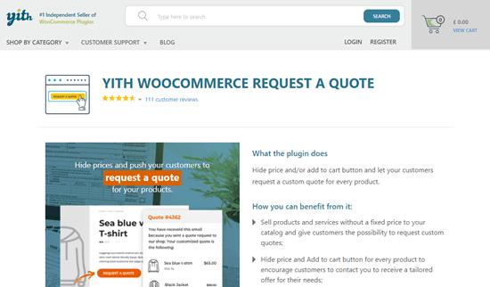 YITH WooCommerce Teklif İste