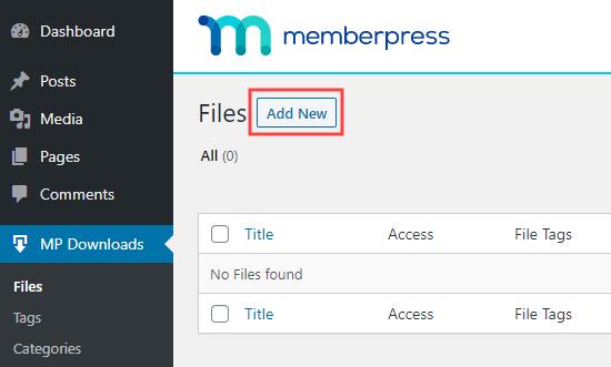 MemberPress'e yeni bir indirilebilir dosya ekleme