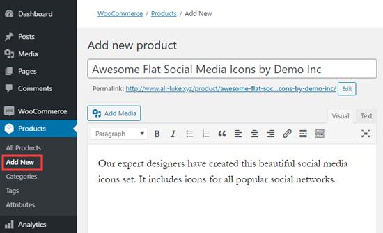 WooCommerce'e yeni bir indirilebilir ürün ekleme