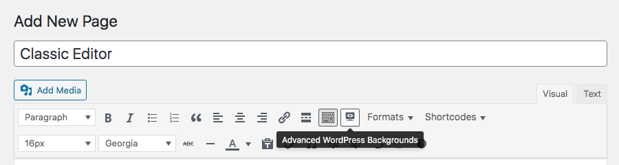 Gelişmiş WordPress Arka Planları Klasik Düzenleyicisi