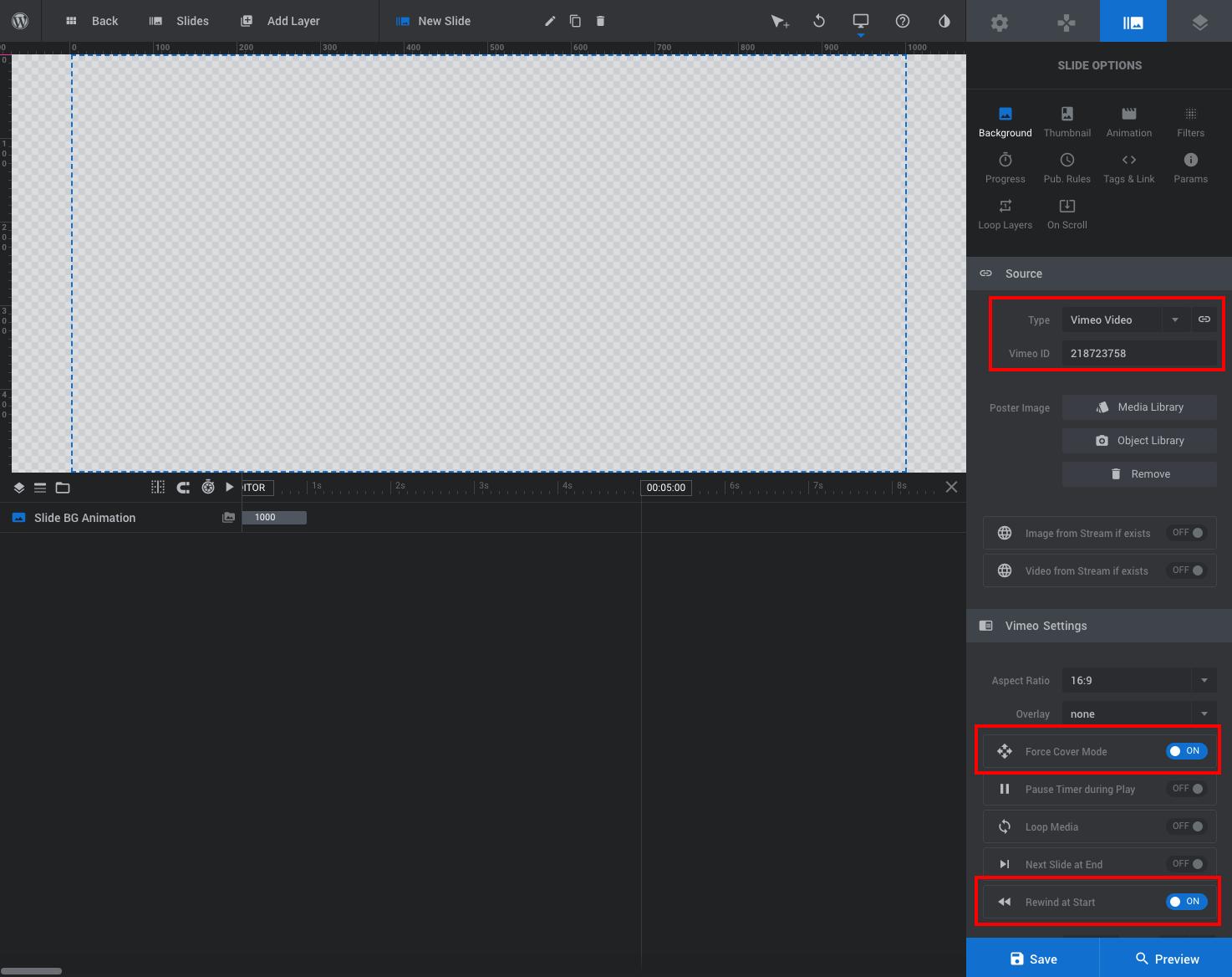 Kaydırıcı Örneği: Slayt Video Arka Planı