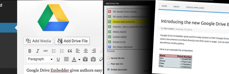 Google Drive Embedder Eklentisi